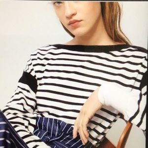 MASSIMO DUTTI Boatneck Striped Sweater, Small, NWT